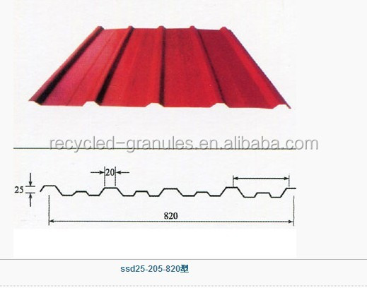 YX25-205-820(V205) color coated roof corrugated fence steel sheets