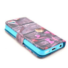 Cell Phone PU Leather Holster sublimation case for iphone 5c
