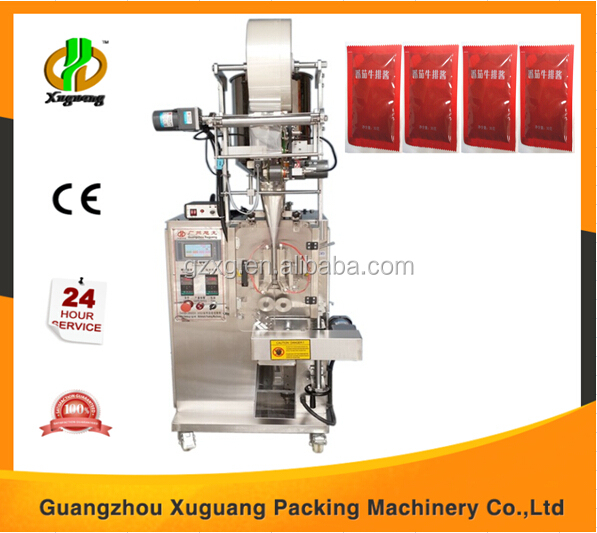 Vertical automatic steak sauce packing machine manufacturer