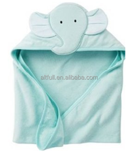 Customized Shapes 100% Terry Bamboo/Cotton Baby Hooded Towel, Thick and Soft