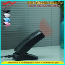 Mini Missile heater / Saving energy household items mini electric air heater fan