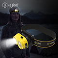 UYLED Headlamp Lightweight Adjustable Angle USB Rechargeable LED Head Torch