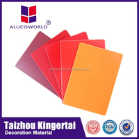 Alucoworld fireproof wood wall cladding flame retardant board interior&exterior decoration material aluminum acp sheet