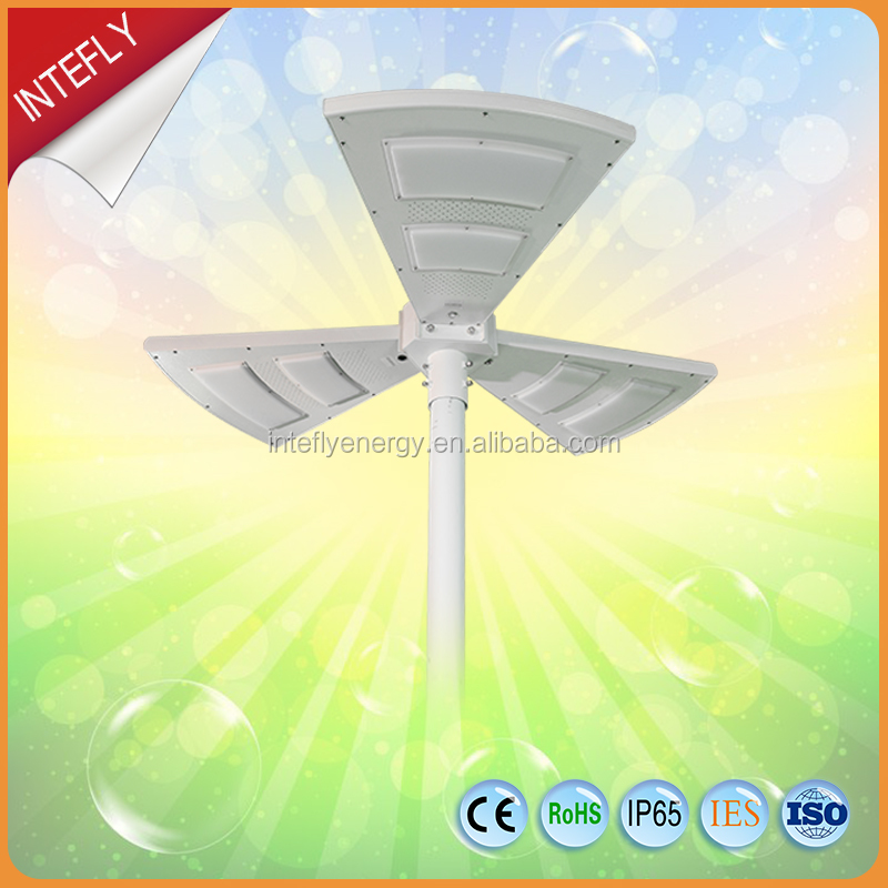 Factory Supply Fan-Shaped Solar Garden Light Decorative Pole Light With Remote Control