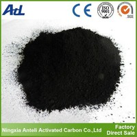 crushed powdered activated charcoal for food refining