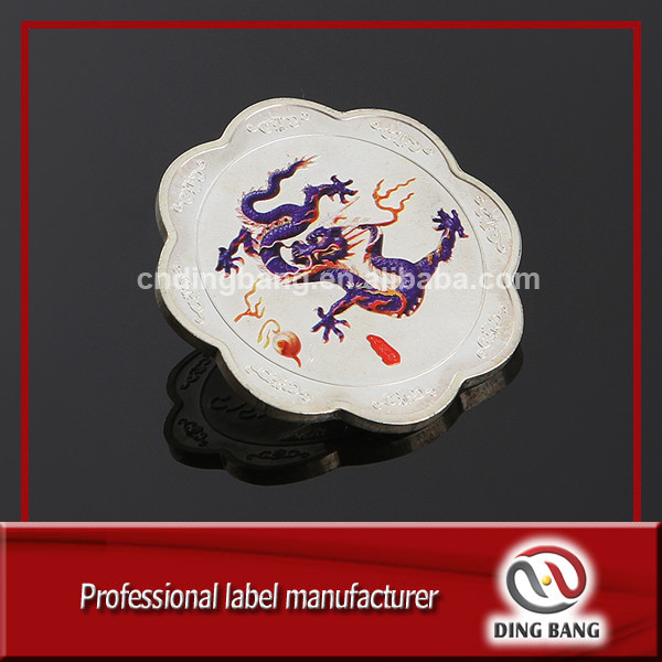 OEM Metal Crafts Factory Professional Sublimation Logo And Funny Flower Shape Embossed Custom Souvenir Coin
