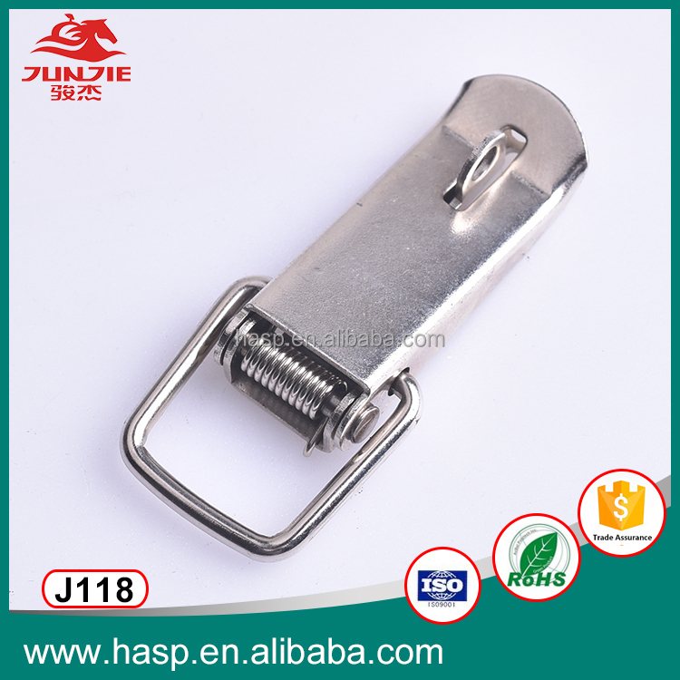 China supplier stainless steel locking case toggle hasp lock,metal Quick Release door latch J118