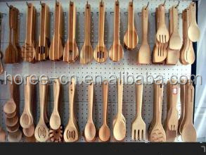 bamboo utensils set with knife spoon & fork