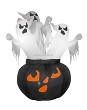 6ft inflatable halloween ghost with black pumpkin for decoration in good quality