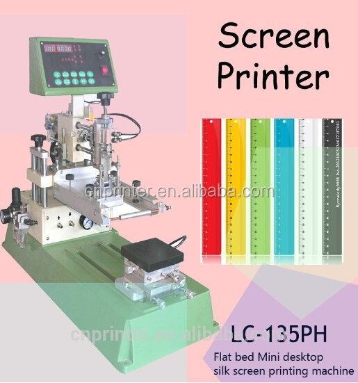 hot sale pneumatic silk screen printer with moving table logo printing for electronic apparatus,toys, stationery gift
