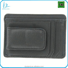 High quality magnetic men money clip wallet genuine cow leather