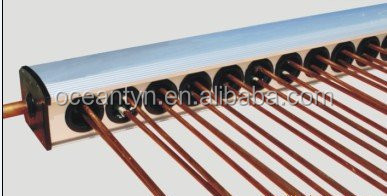 Pressure solar collector with U pipe, ,20 tubes at most solar U pipe collector