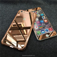 QWD back and front full covered for iphone6s color electroplating rose gold mirror full cover tempered glass screen protector