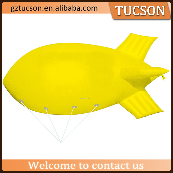 Outdoor custom made inflatable blimp/ inflatable airship model for sale