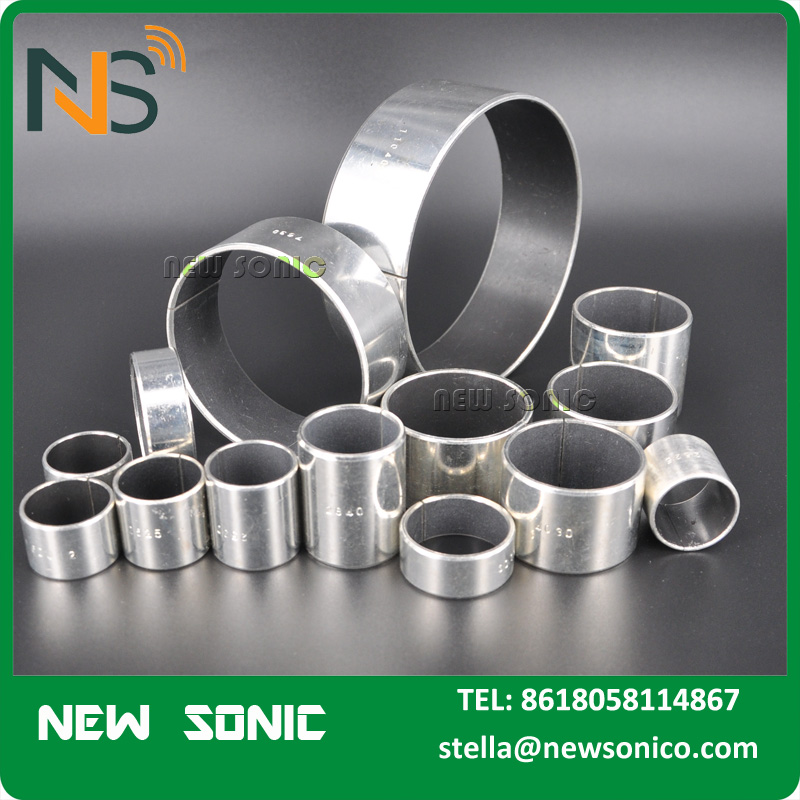 Sintering Porous Bronze Layer Bearing , PAP P10 Teflon Sleeve Bushing, Thin Thickness Heavy Load PTFE Oilled Bush