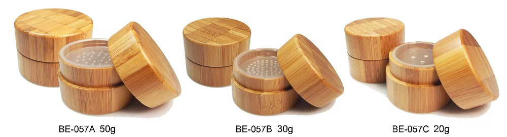 BE-057A-50g Hot selling! total bamboo eye shadow case/container