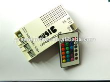 Sound Activated LED Music Controller With Remote for Color Changing LED Strip, 5 Amp, 12 Volt