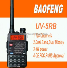 Ham radio,amateur walkie talkie,BaoFeng UV-5RB VHF/UHF Dual Band 2-way Radio 136-174/400-480Mhz + USB cable + CD