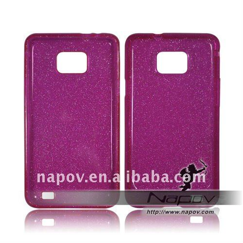 TPU case cover for samsung i9100 galaxy s2 - loose powder