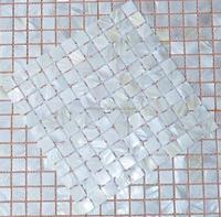 Seashell mosaic, white shell mosaic, wall shell mosaic decoration sea shell