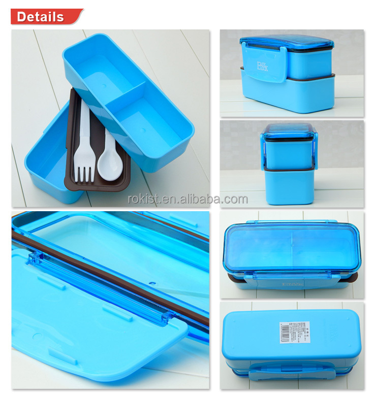 Easylock Custom Logo Printed Plastic Bento Lunch Box