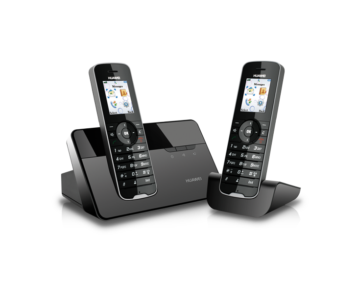 900/1800 /2100Mhz DECT digital voice tech fixed wireless phone HUAWEI F111 GSM FWP with 2 handsets
