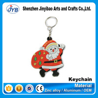 wholesale soft pvc christmas gifts keyrings in bulk