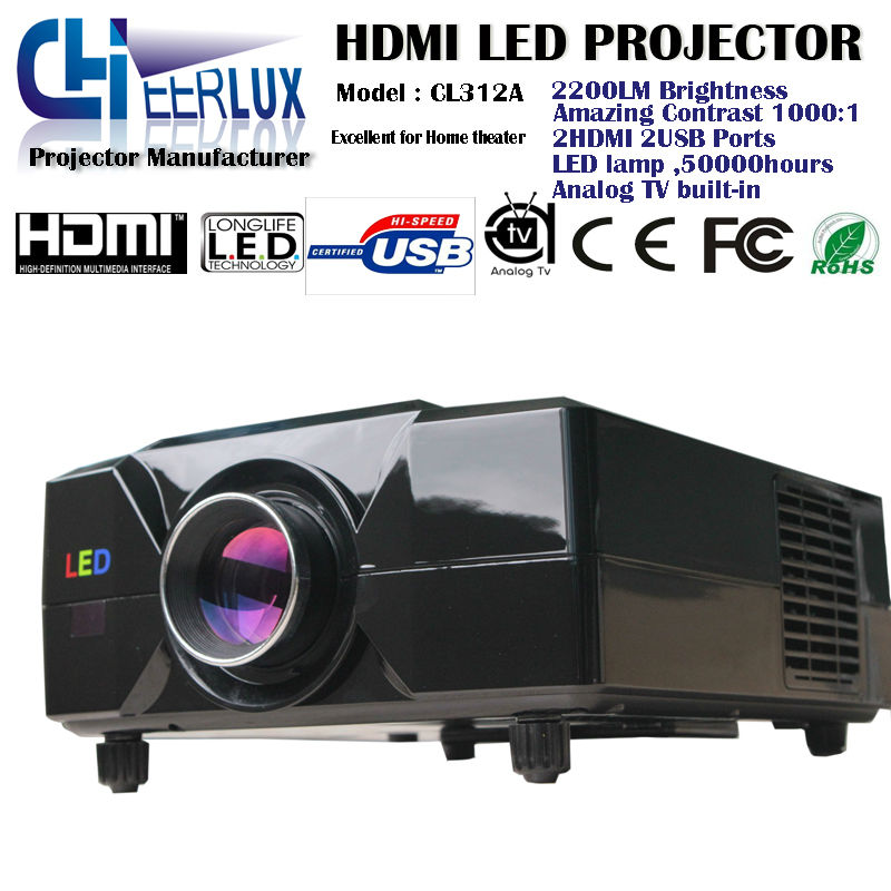 Drop shipping ! OEM ! multimedia game player projectors with 2500 lumens & dvd player & led lamp & lcd panel for video games