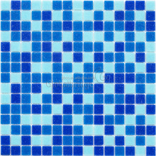 Blue swimming pool tile 4mm swimming pool mosaic pool tiles wall