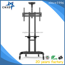 Height adjustable TV Stand Trolley, LCD TV Stand, TV Cart for VESA 100*100-600*400mm