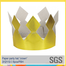 Baby Shower Party Paper Crown Hat,Cone Hat for Celebration Decorations