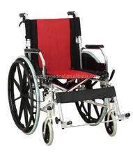 Deluxe Aluminum Handicapped wheelchair Foldable China wheelchair wholesales