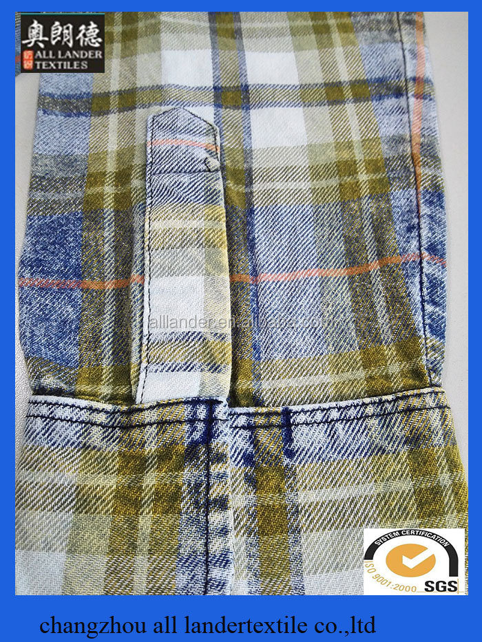 new style indigo check fabric 100 cotton plaid fabric check pattren fabric