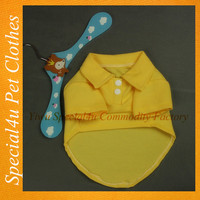 SHLY-2109 Yellow wholesale dog clothes , pet clothes , dog apparel