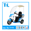T418 500W 48V 3 wheel disability electric mobility scooter adult tricycle motorcycle