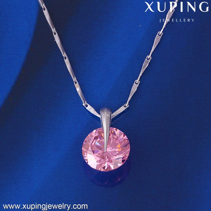 31153 XUPING roundness crystal copper pendant,custom metal pendant,diamond pendant jewelry