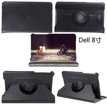 360 Rotary Stand Flip PU Leather Tablet Cover Case For Dell Venue 8 Pro