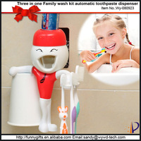 Funny plastic bathroom set toothbrush holder bath accessory