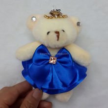 HY-63 blue skirt dressed bears/diamond bears/12cm joint small bears