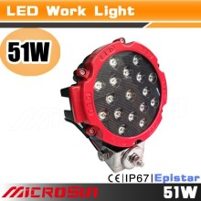 "Hot sale 12v/24v 17"" waterproof red led work lamp flood light trailer,stop/tail/turn lights"