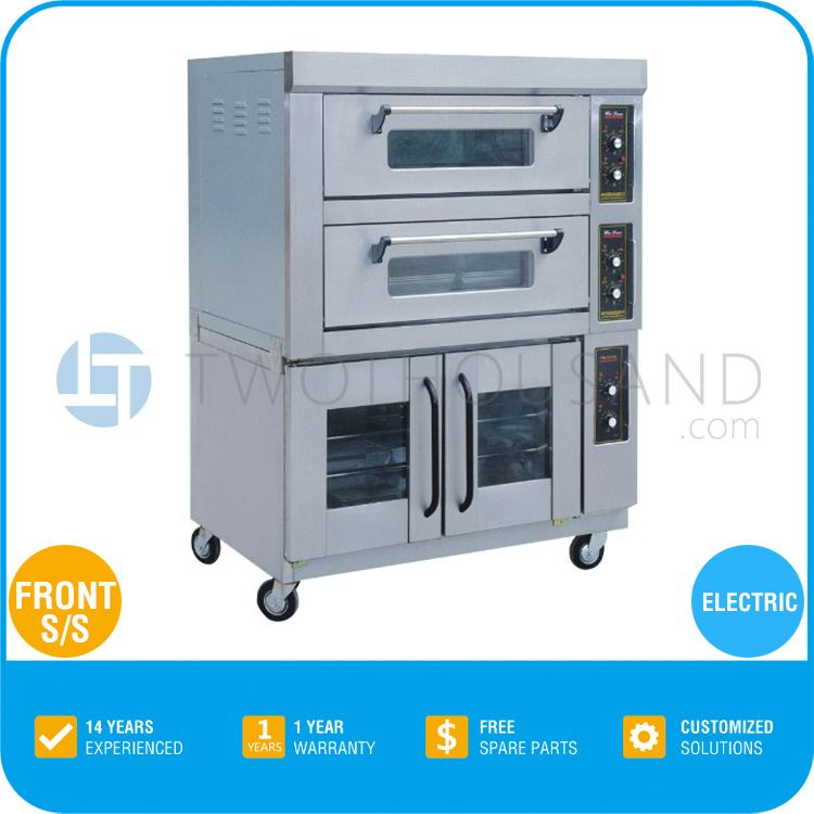 Best Selling Items Front S/S Electric Fermentation Cabinet With 2 Decks Convection Oven