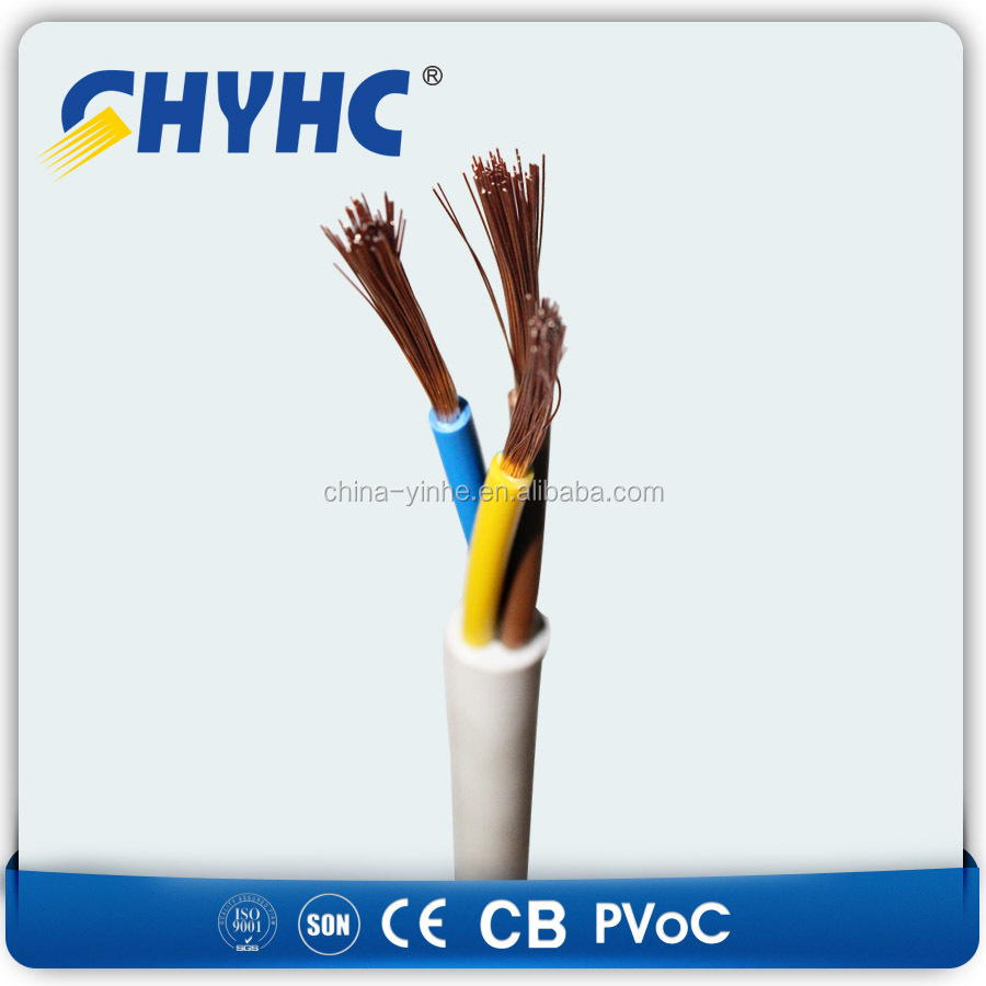 Twin and Earth Wire 0.5mm2 0.75mm2 1mm2 1.5mm2 Electrical Power Flat ECC Cable