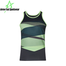 Green Printed Sublimation Basketball Women Tank Top Sports Basketball Singlets