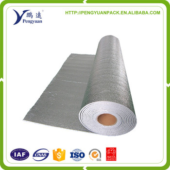 Fire-retardant Foil-Backed Foam Roll with Woven Fabric Layer