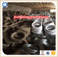 electro galvanized wire/galvanized iron wire/soft galvanized binding gi wire packing in hessian cloth( factory) skype:adam868886