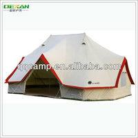High waterproof 100% heavy duty canvas tent for family camping