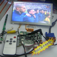 "7"" TFT LCD Module Monitor Display w/ Touch Panel Screen + VGA&2AV A/D Board"
