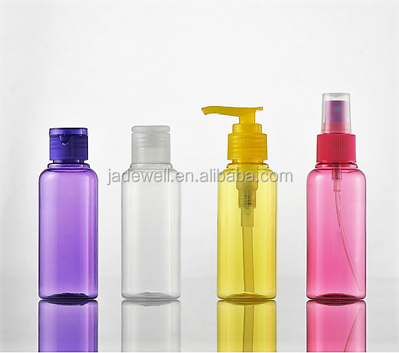 50ml 60ml 80ml 100ml wholesale cheap pump spray clear plastic lotion bottle for shampoo or cleaning and washing
