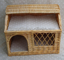 Outdoor natural willow Wicker pet house cat house basket