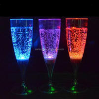 Party Promotional flashing LED Champagne Glass